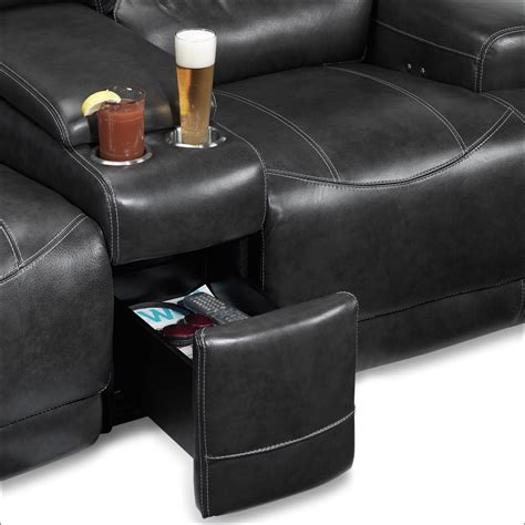 power reclining loveseat with console dearborn power reclining loveseat with console charcoal