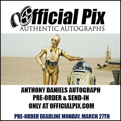 anthony daniels signing anthony daniels autograph pre order send in