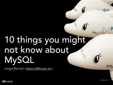 0 12 1 Things You Might Not Know Mcpe Things You - 10 things you might not know about mysql