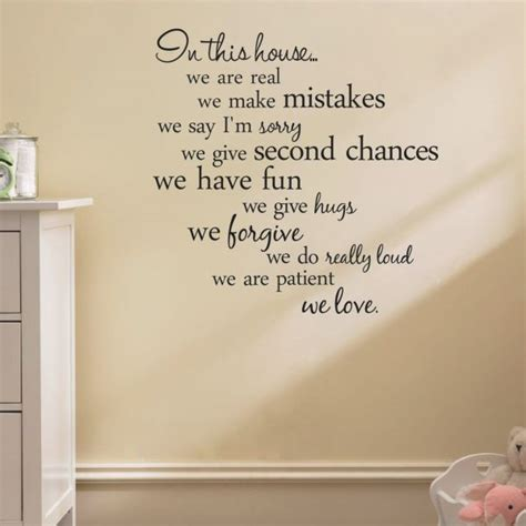 house rules art words graphics pvc wall sticker wallpaper house rules quote wall stickers home decor living room diy