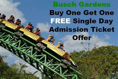 busch gardens bogo ticket offer limited time only