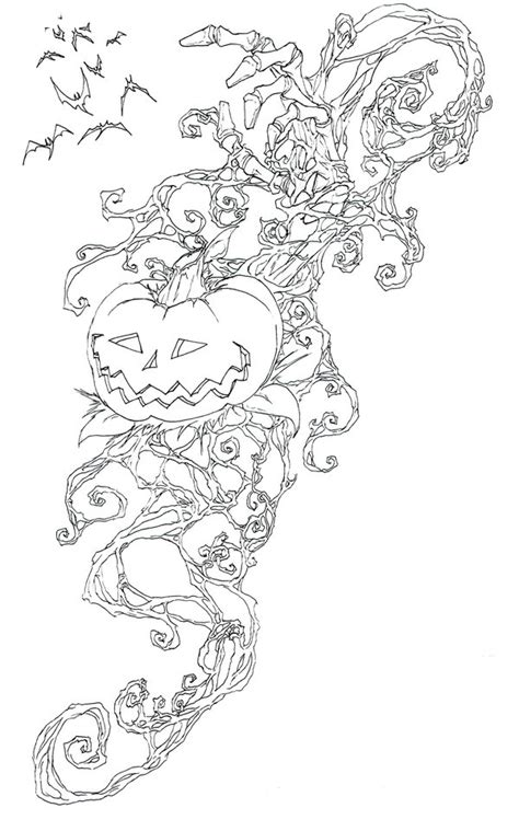 coloring pages of pumpkin vines pumpkin vines by darthbaio on deviantart