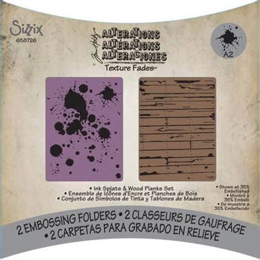 tim holtz alterations texture fades embossing folders