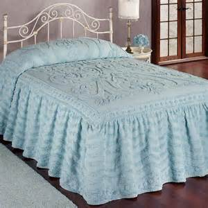 allure chenille ruffled flounce oversized bedspread bedding