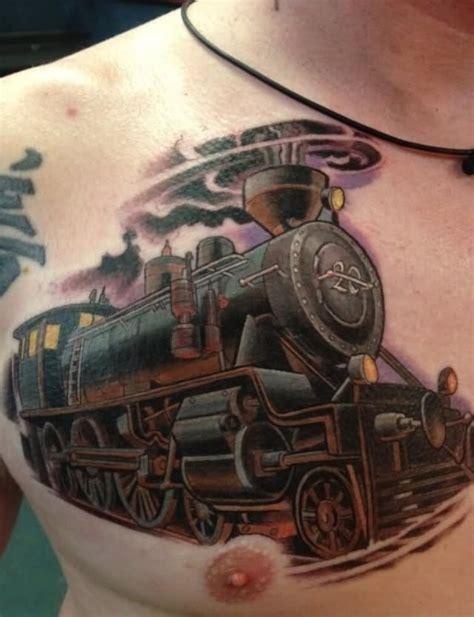 train tattoo cp engine design for leg calf