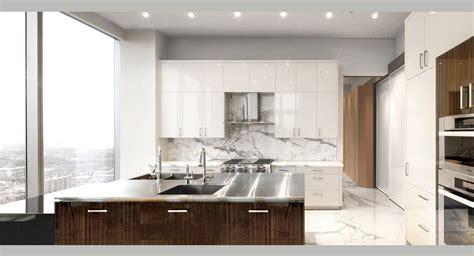 Oak Kitchen Island White Marble Apartment Po Ku Custom Luxury Home Builders