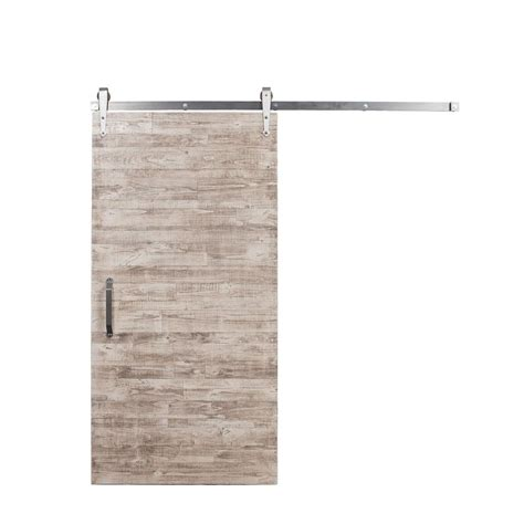 Sliding Barn Door Hardware Home Depot Rustica Hardware 36 In X 84 In Rustica Reclaimed White Wash Wood Barn Door With Arrow Sliding