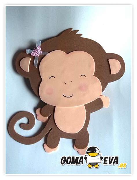 molde para goma eva de leon http www goma eva es molde fofucha plana animal mono