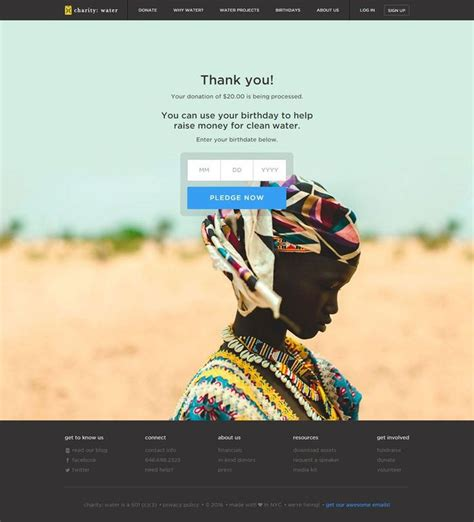 charity water thank you letter 12 best donor thank you letters images on