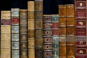 Ona Shelf by Antique Books On A Shelf Stock Photo Getty Images