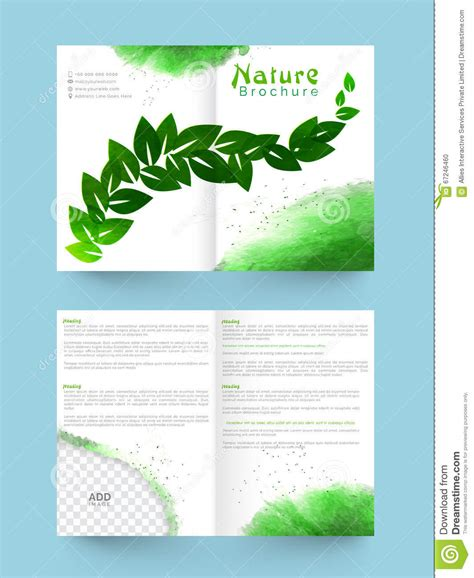 brochure template nature nature brochure template or flyer design stock