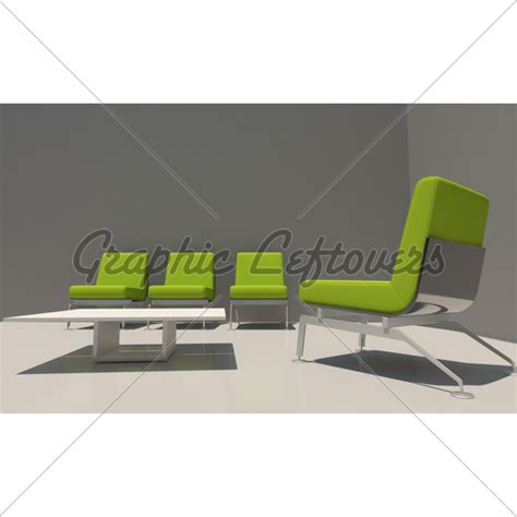 Grey And Green Interior · GL Stock Images