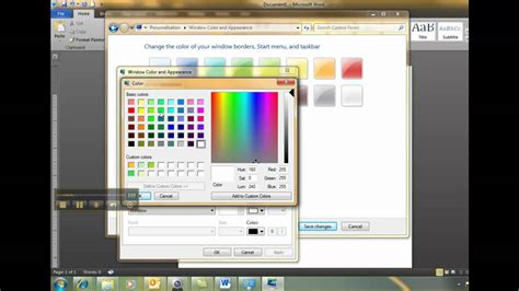 how to change color on windows 8 change background color windows 7 mp4