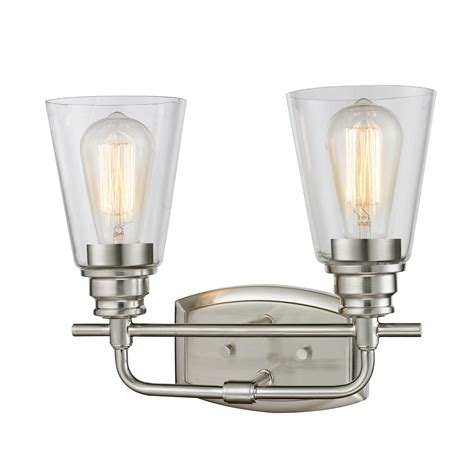 2 Light Vanity Fixture Z Lite Annora Brushed Nickel Two Light Vanity Fixture On Sale