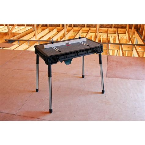 best portable work bench portable jobsite workbench stand garage bench table router
