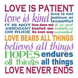 printable version of love is patient love is patient color painting by ginny gaura