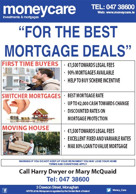 best mortgage for the best mortgage deals moneycare ireland