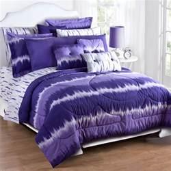 karin maki purple tie dye full comforter sham set 1st