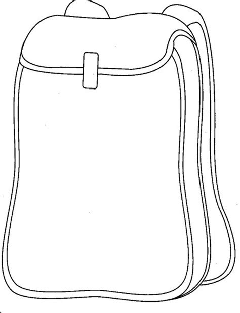 backpack coloring page coloring pages
