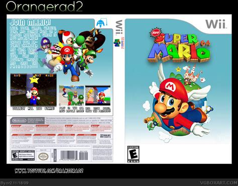 super mario 64 ds wii new super mario 64 wii box art cover by or2
