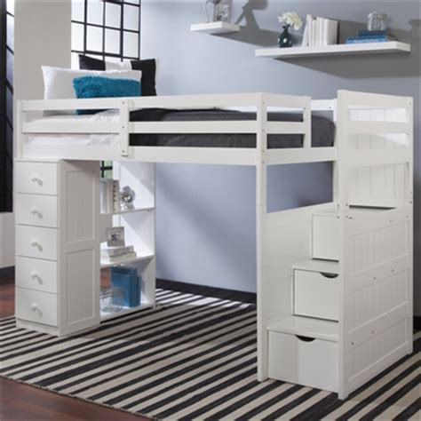Bed With Built In Drawers by Mountaineer Loft Bed With Storage Tower And Built In