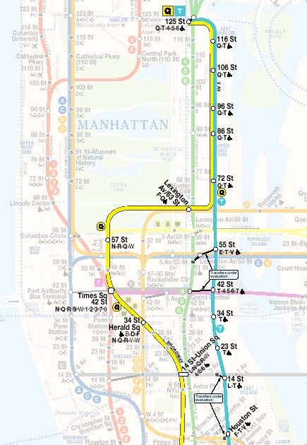 2nd Avenue Subway Map by Metro Tech Consulting Services