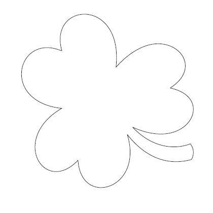 shamrock templates free printable of large shamrock to outline with glitter