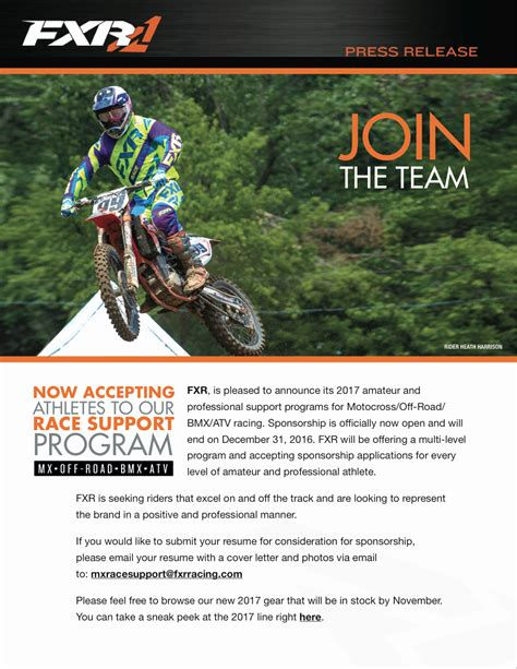 Motocross Resume Annecarolynbird Mx Sponsorship Resume Template