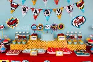 fantastic superhero baby shower ideas b lovely events