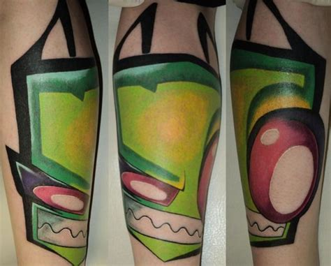 invader zim tattoos 35 entertaining ideas amazing ideas