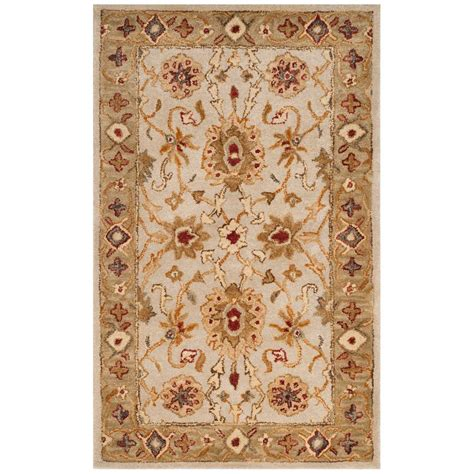 5 ft area rugs safavieh antiquity gray beige 3 ft x 5 ft area rug at816b 3 the home depot