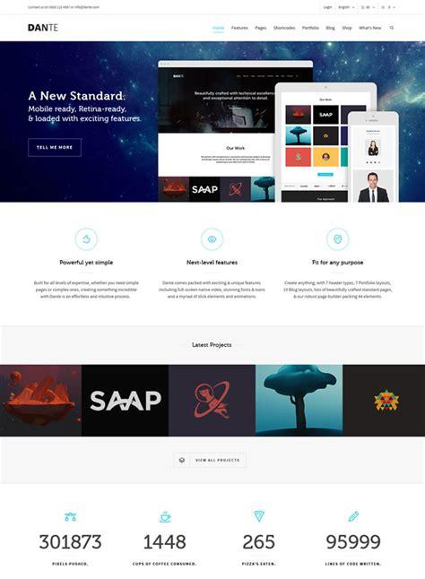 theme wordpress dante 15 simple and best minimal wordpress themes