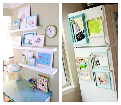 Colorful Wall Hooks 21 ways to display kids artwork honor your children s