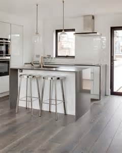Modern Kitchen Flooring Ideas Driftwood Contemporary Kitchen By The Reclaimed Flooring Company