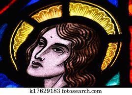 stained glass window  jesus praying   garden