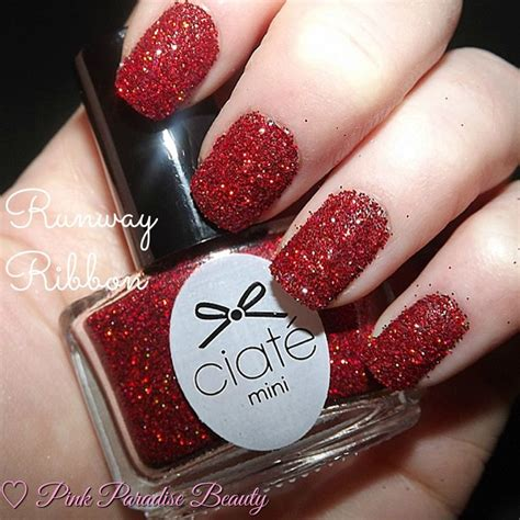 Ribbon Nail Glitter day 6 of the ciate minimanimanor nail glitter in runway ribbon ciate nails