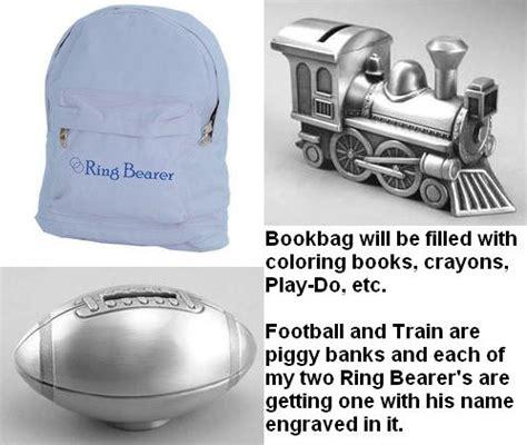 ring bearer gift ideas weddingbee