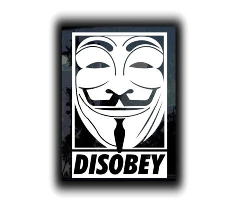 Kaos Anonymous 02 Buy Side fawkes disobey vinyl decal stickers custom sticker shop