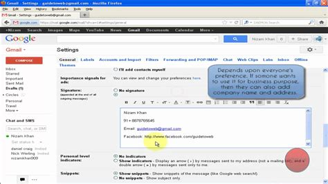 add or change your email signature on your blackberry how to add email signature in gmail youtube
