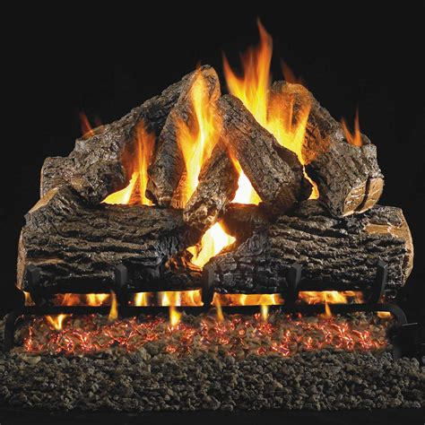 real fyre charred oak vented gas log set bbq grill people