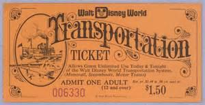 vintage disneyland tickets walt disney world