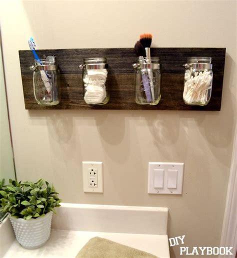 how to create a mason jar organizer for your bathroom