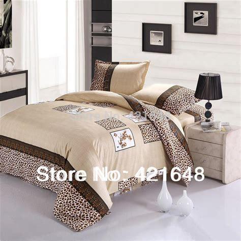 washing machine size for queen comforter ᓂfree shipping cotton luxury leopard leopard 3 4pcs