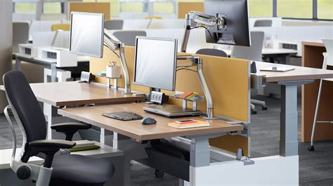 steelcase benching series height adjustable office benches tables steelcase