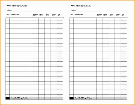 5 Vehicle Mileage Log Maker Sletemplatess Sletemplatess Mileage Log Book Template