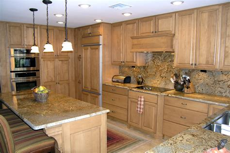 Light Brown Kitchen Cabinets by Remodelled Kitchens In Tampa