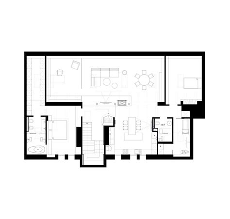 bedroom bathroom floor plan kitchen living room design