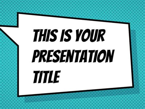 comic book template powerpoint free presentation template comicbook style