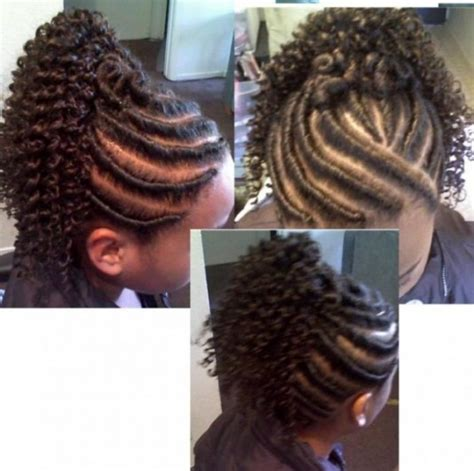 blqck hair styles poney tails and flat twist flat twist