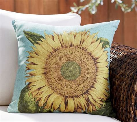 sunflower rug pottery barn sunflower indoor outdoor pillow pottery barn